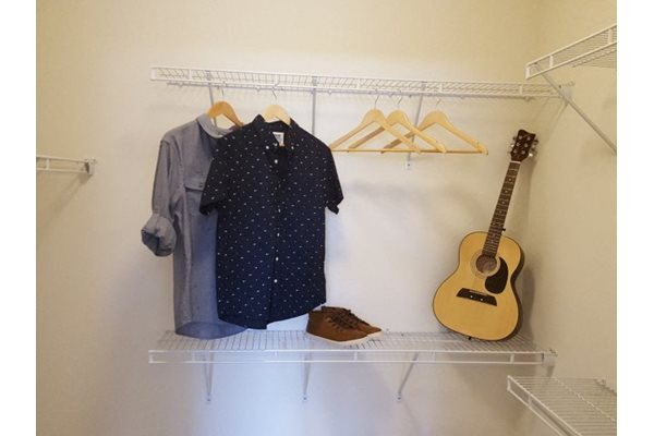 Walk-in closets at Pulse Millenia Apartments in Chula Vista, CA