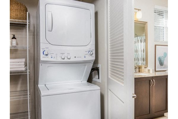 Washer and dryer at Pulse Millenia Apartments in Chula Vista, CA