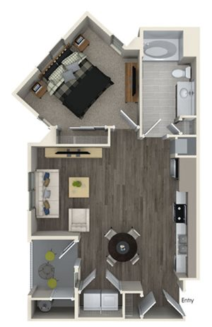 A1A floor plan at Pulse Millenia Apartments in Chula Vista, CA