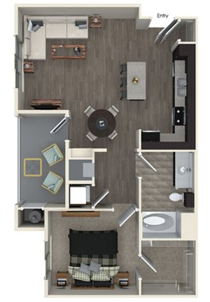 A2 floor plan at Pulse Millenia Apartments in Chula Vista, CA