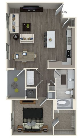 A3 floor plan at Pulse Millenia Apartments in Chula Vista, CA