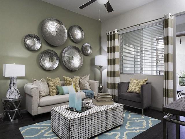 Living Room at Skye Apartments in Vista, CA.