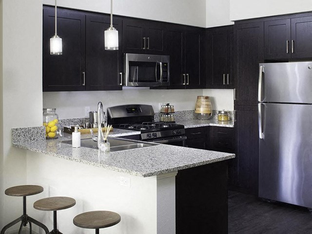 Gourmet kitchen at Skye Apartments in Vista CA