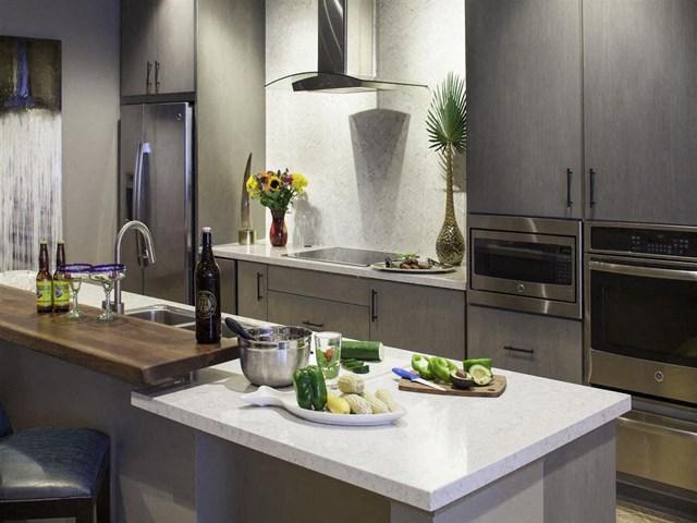 Social Kitchen at Skye Apartments in Vista, CA.