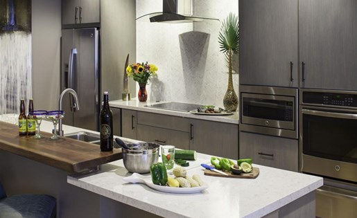 Social Kitchen at Skye Apartments in Vista CA