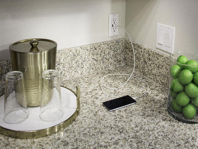 USB outlet at Skye Apartments in Vista, CA.