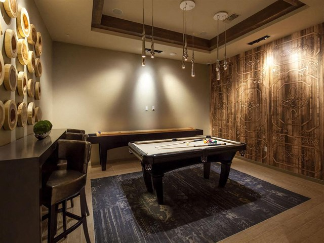 Billiards and Shuffleboard at Skye Apartments in Vista, CA.