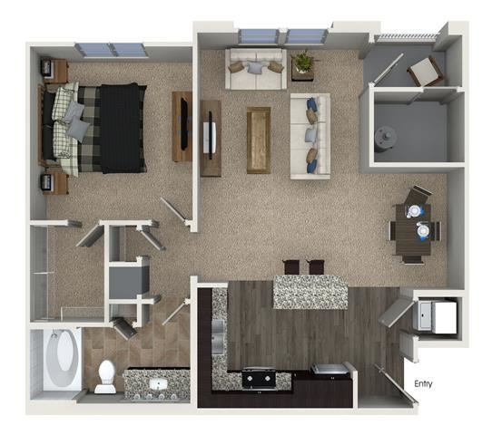 A1 floor plan at Skye Apartments in Vista, CA