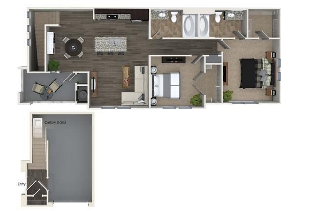 B3 floor plan at Skye Apartments in Vista, CA
