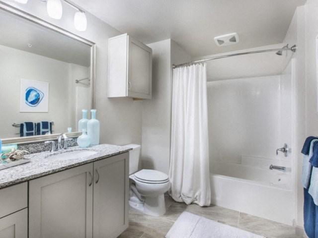 Bathroom at Skye Apartments in Vista, CA