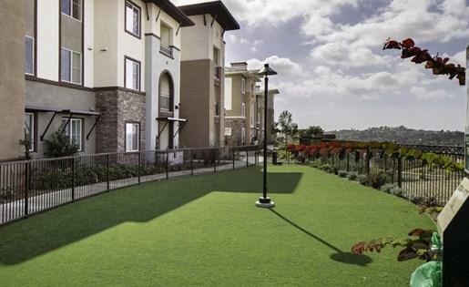 Dog park at Skye Apartments in Vista CA