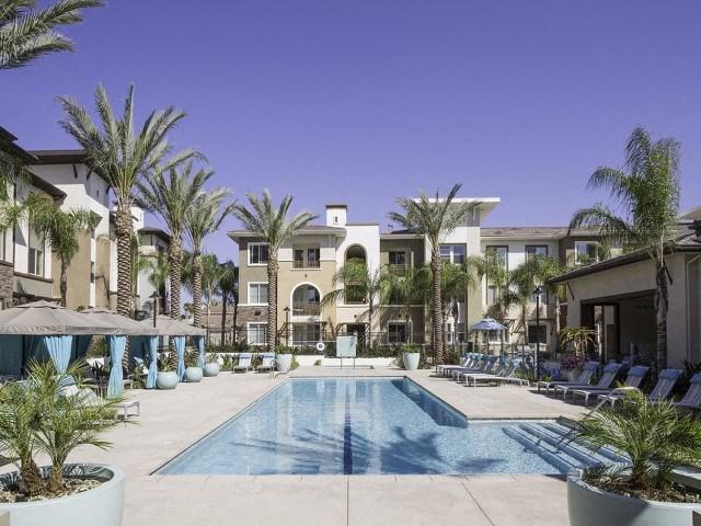 Large Pool at Skye Apartments in Vista, CA.