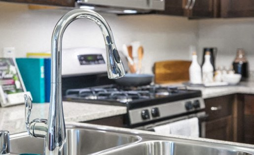 Moen faucet at Skye Apartments in Vista CA