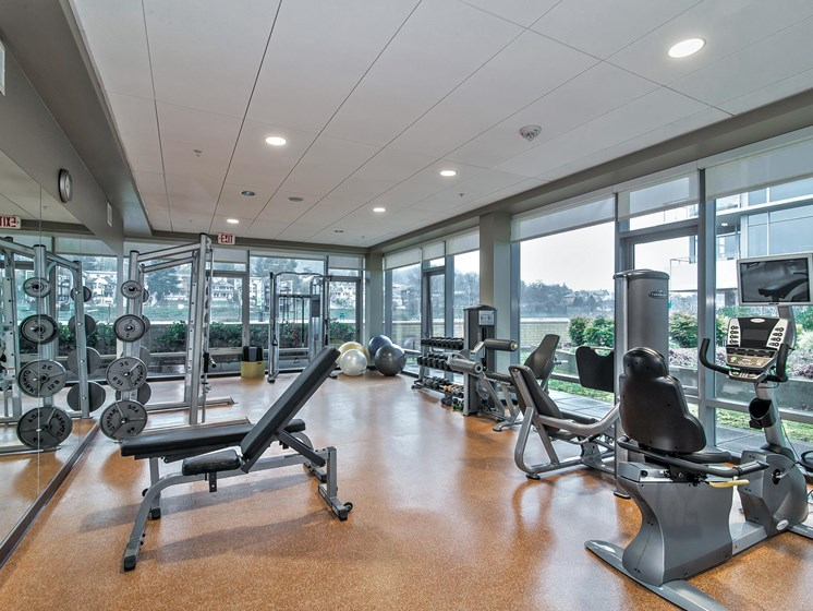 Professional-Grade Fitness Center at Riva on the Park, Oregon