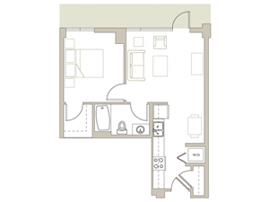 Floor Plan at Riva on the Park, Portland, OR