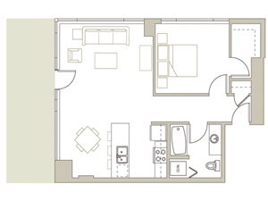 Floor Plan at Riva on the Park, Portland, OR 97239