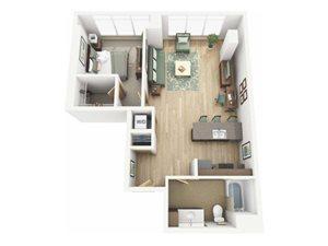 Floor Plan at Riva on the Park, Portland, 97239