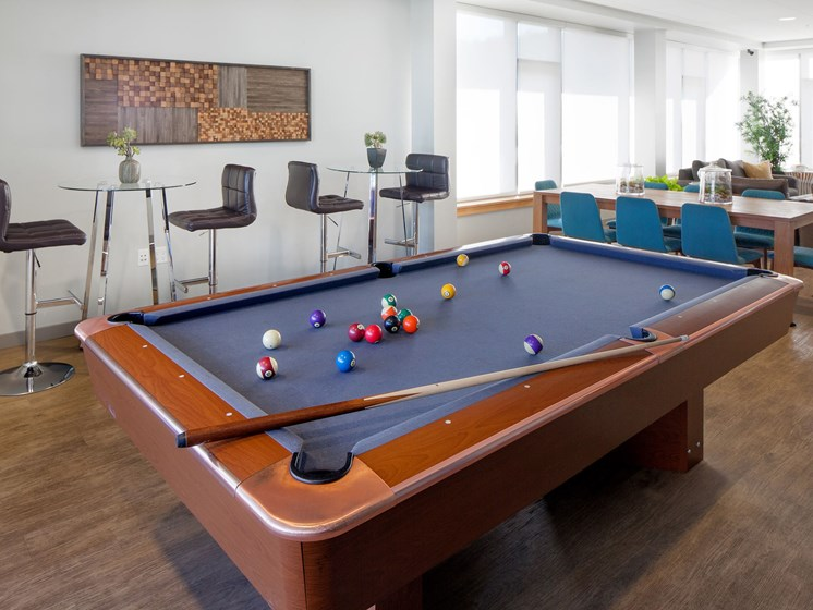 Clubhouse with Pool Table at Riva on the Park, Oregon, 97239