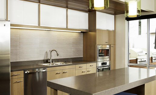 Corian Countertops in Kitchen and Bathrooms at Allez, Redmond, WA