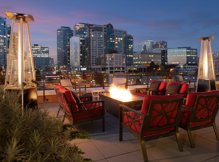 Rooftop Terrace with Spectacular Views of the Downtown Bellevue Skyline