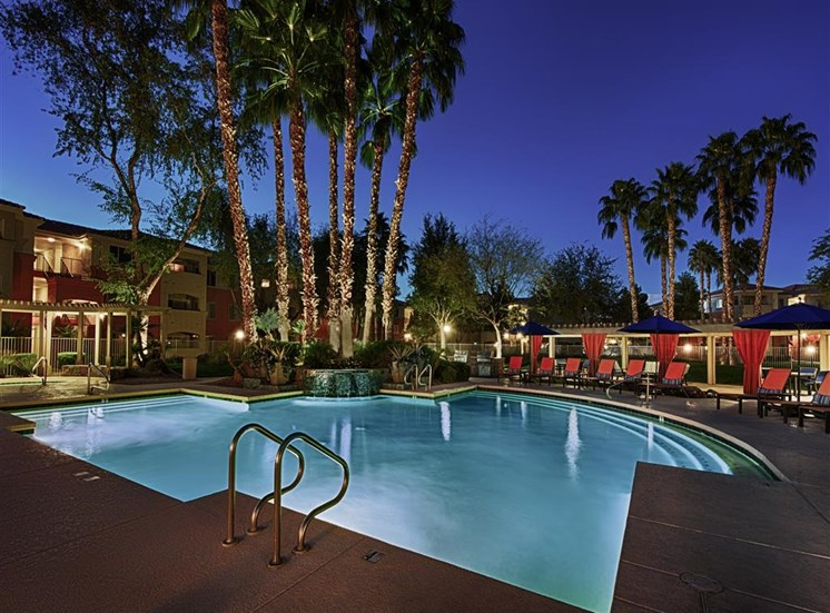 Shimmering Pool Night View at Aventura, Arizona, 85392