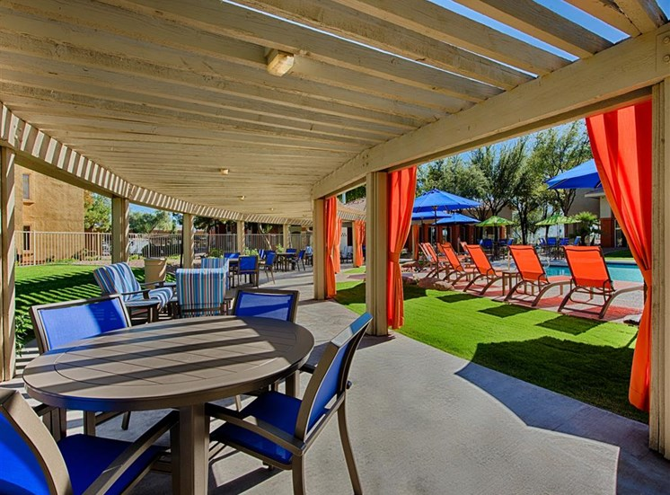 Poolside Sundeck and Dining Area at Aventura, Avondale