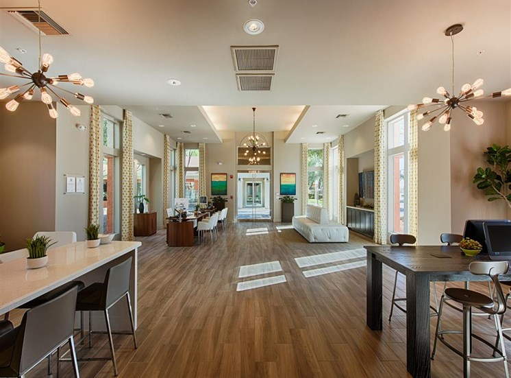 Resident Lounge With Wood-Style Flooring at Aventura, Avondale, AZ