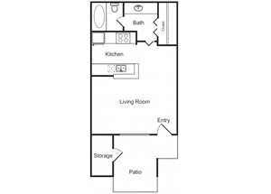 Studio Floor Plan at Flagstone, Tempe,Arizona