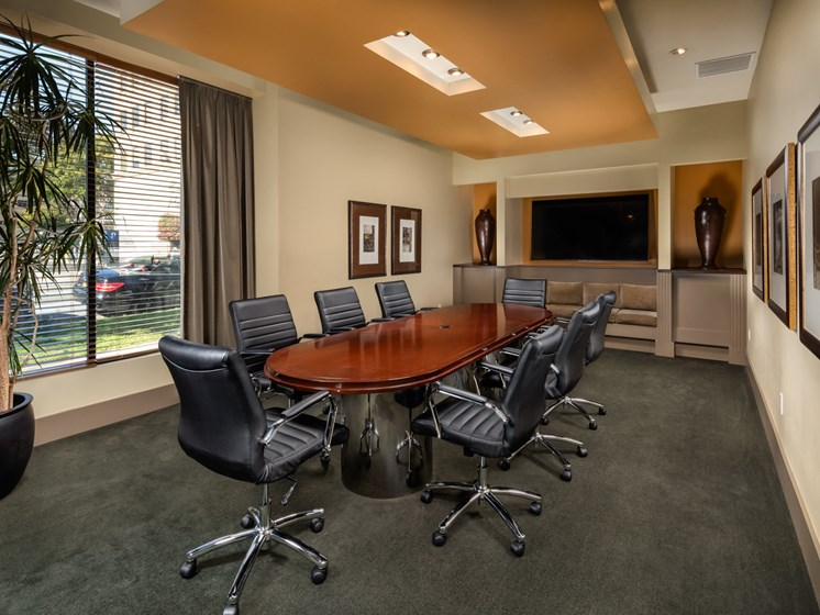 Conference Room at Trio Apartments in Pasadena, CA