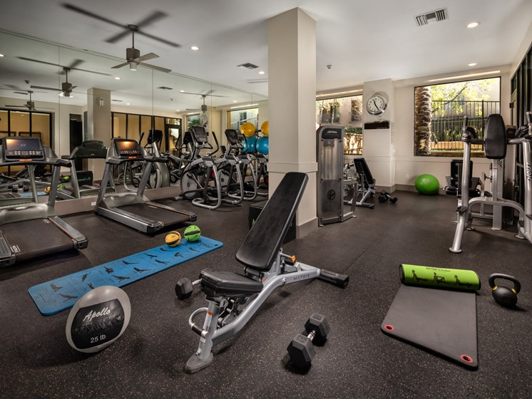 Luxury Fitness Center at Trio Apartments in Pasadena, CA