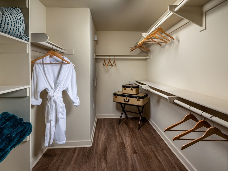 Walk-in Closet at Trio Apartments in Pasadena, CA