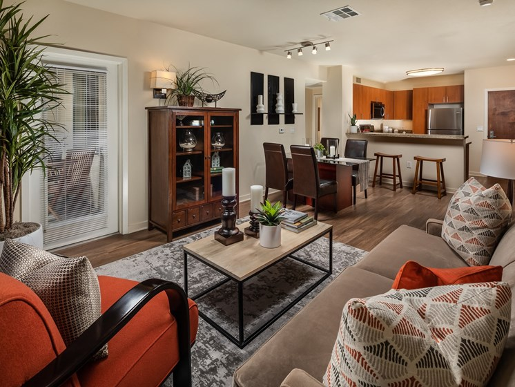 Luxury Living Room at Trio Apartments in Pasadena, CA