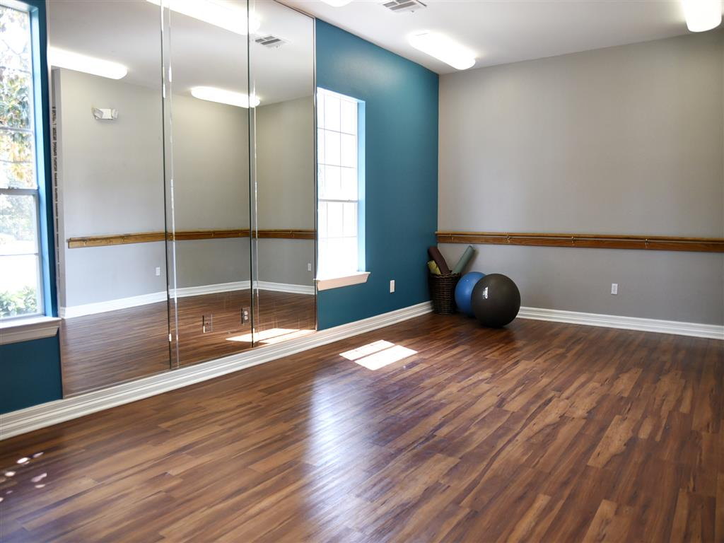 Fitness Center with Separate Spin Room at Club at Stablechase, Houston, TX
