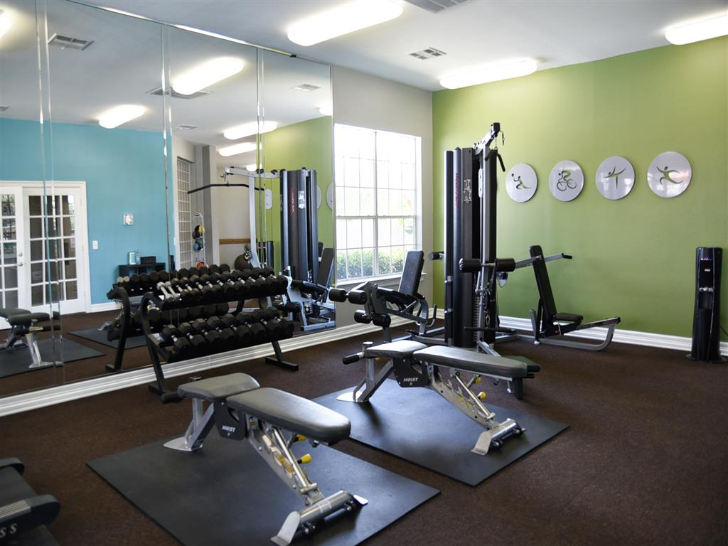 High-Tech Fitness Center at Club at Stablechase, Houston, 77070