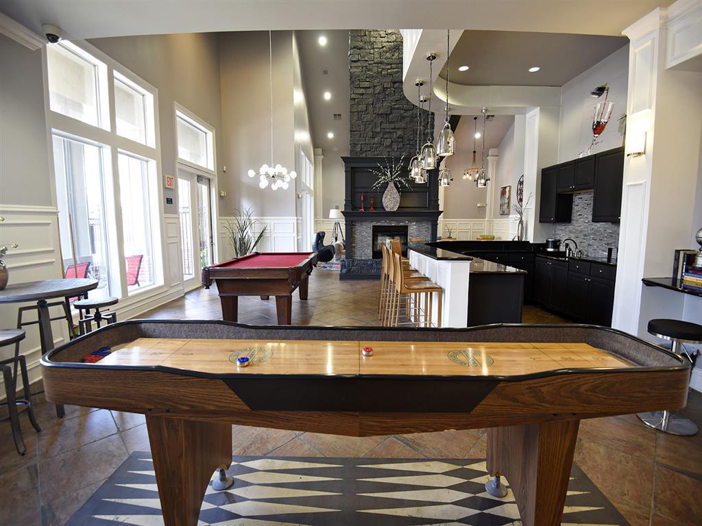 Game Room With Billiards And Shuffleboard Tables At Pebble Creek Ranch, Sugar  Land,Texas