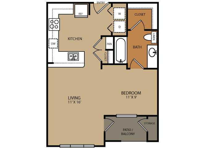 Residences at Forty Two 25 Apartments for rent in Phoenix, AZ  Floor plan