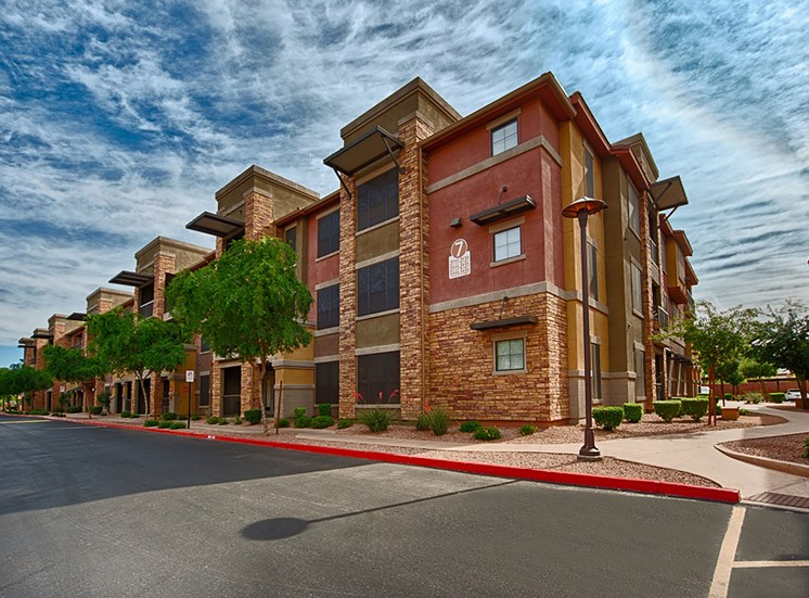 Apartment Complex Exterior With Beautiful Brick Construction at Residences at FortyTwo25, Arizona