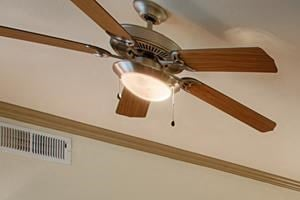 Living Rooms With Lighted Ceiling Fan at Residences at FortyTwo25, Phoenix, 85008
