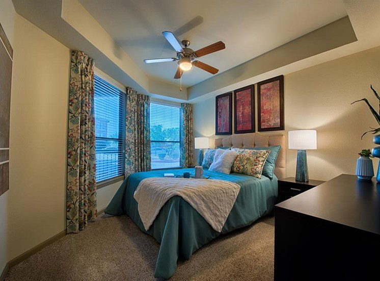 Master Bedrooms With Beautiful Window Coverings at Residences at FortyTwo25, Arizona