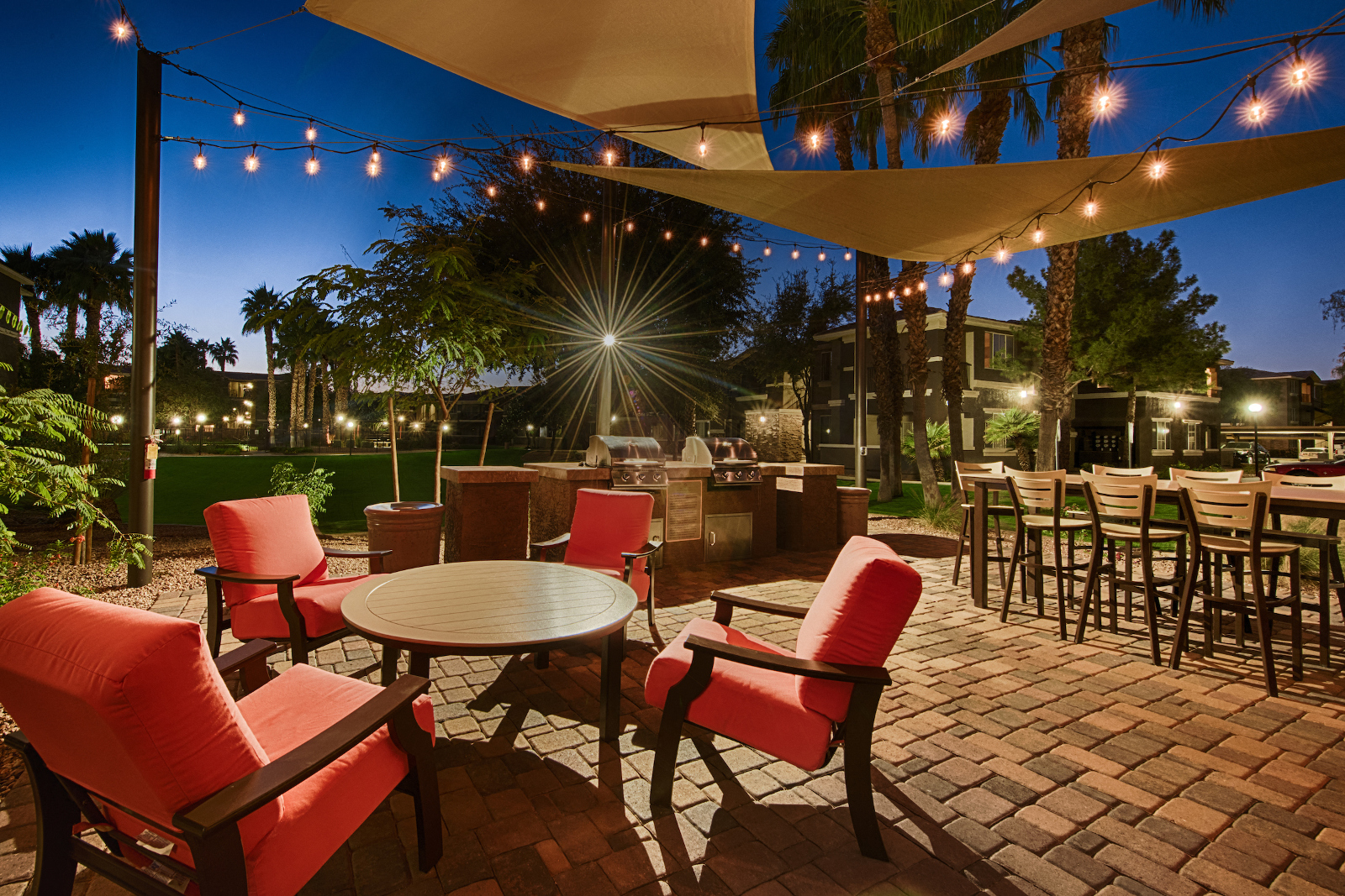 Outdoor Gathering Space with BBQ Grills and Outdoor Seating at Stonebridge Ranch, Arizona, 85225