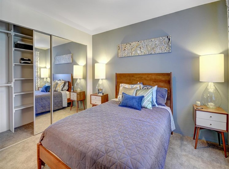 Master bedroom at Beacon at Center Apartments in Everett WA