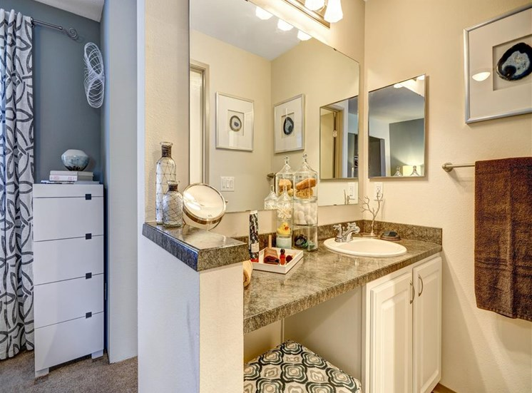 Vanity at Beacon at Center Apartments in Everett WA