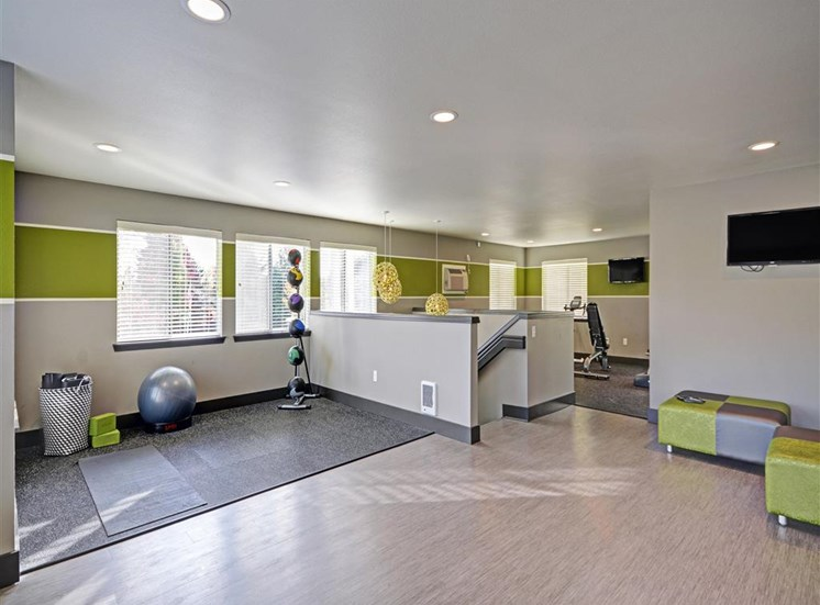 Yoga area at Beacon at Center Apartments in Everett WA