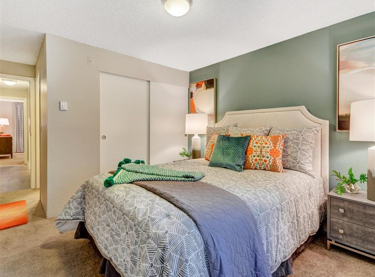 Second bedroom at Grammercy Apartment Homes in Renton WA
