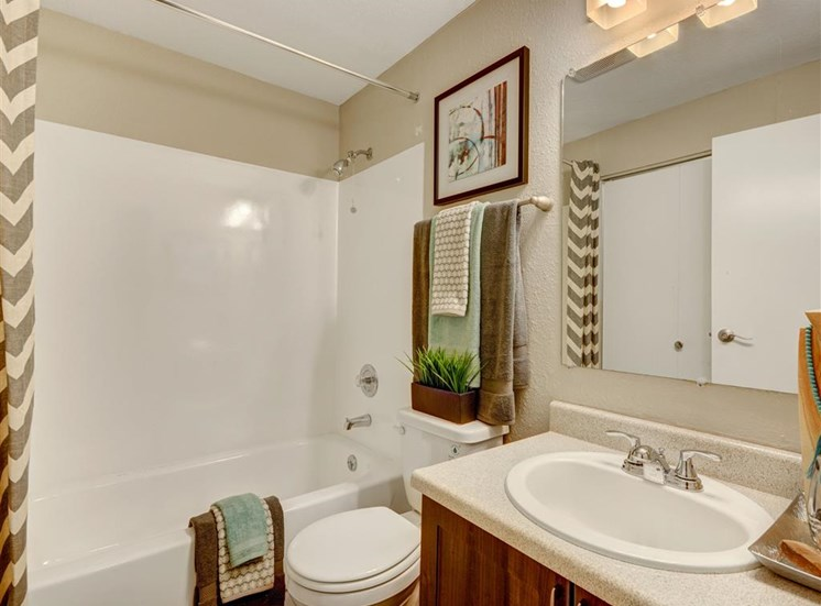 Bathroom at Grammercy Apartment Homes in Renton WA