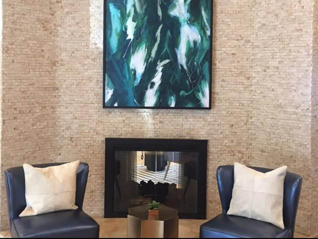 The Lounge Also Features A Two Way Fireplace