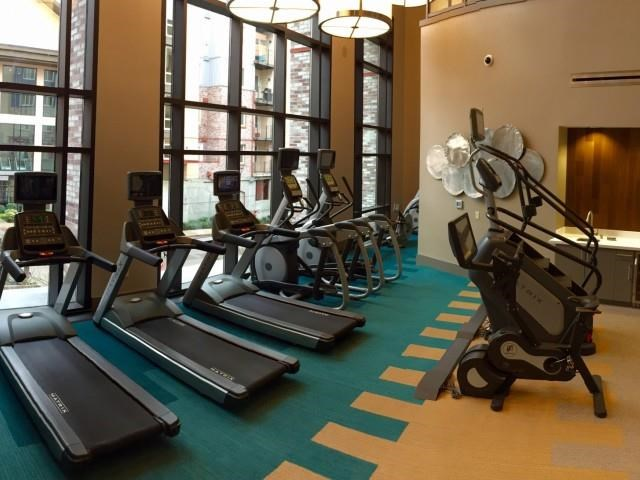Cardio equipment at The Reserve Apartments in Renton Wa