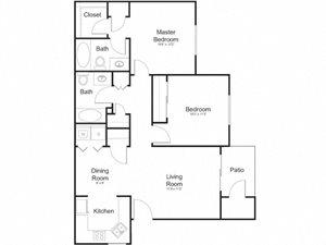 Floor Plan at Allure at Tempe, Tempe, 85283