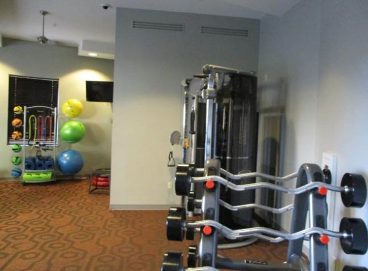 Weight room at Sanctuary Apartments in Renton WA