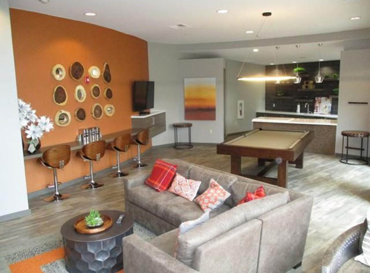 Resident lounge at Sanctuary Apartments in Renton WA